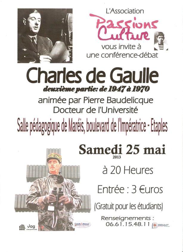 affiche Charles de Gaulle 05 2013