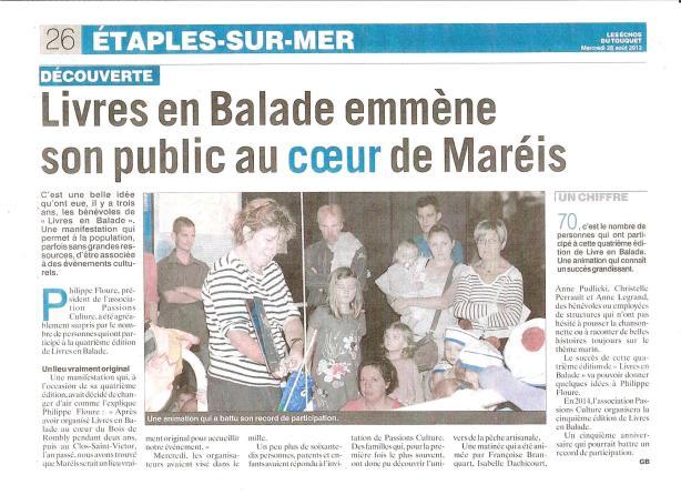 Livres en Balades les Echos 2 08 2013