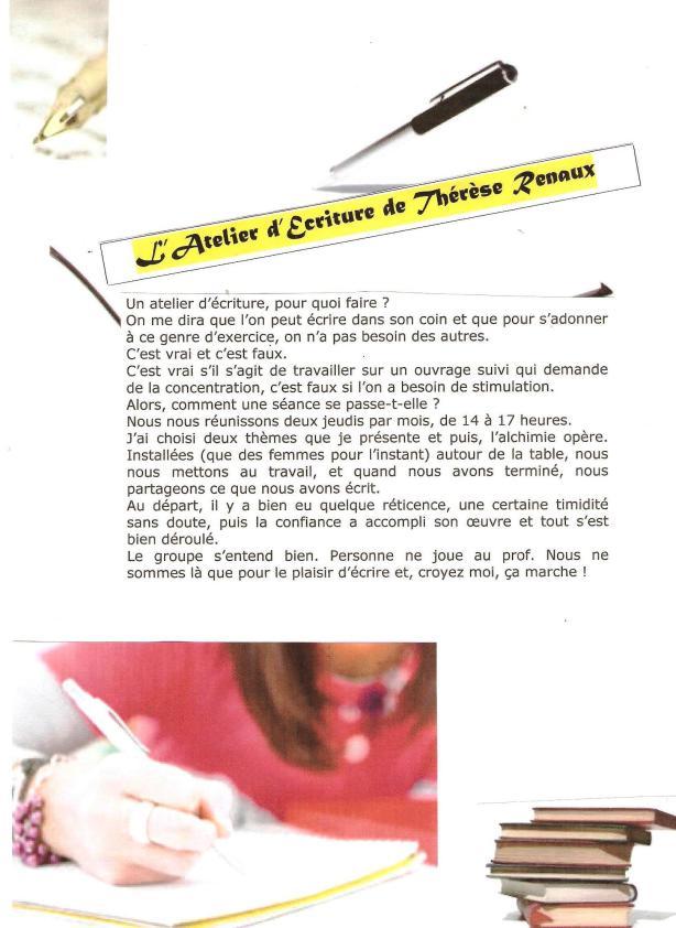 Atelier d'écriture Blog Thérèse R page 1 12 2013