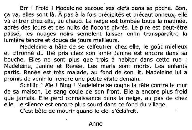 Atelier d'écriture Thérèse R Blog texte 1 12 2013