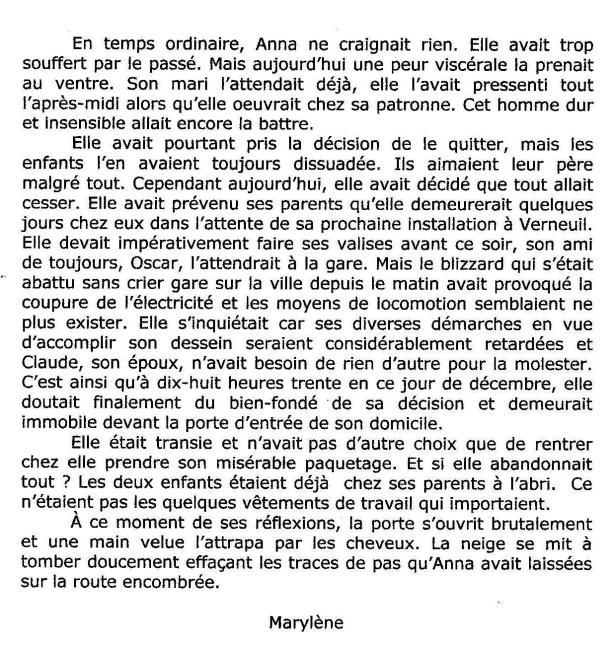 Atelier d'écriture Thérèse R Blog texte 3 12 2013