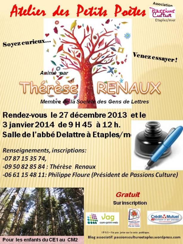 Atelier des Petits Poètes 12 2013 affiche
