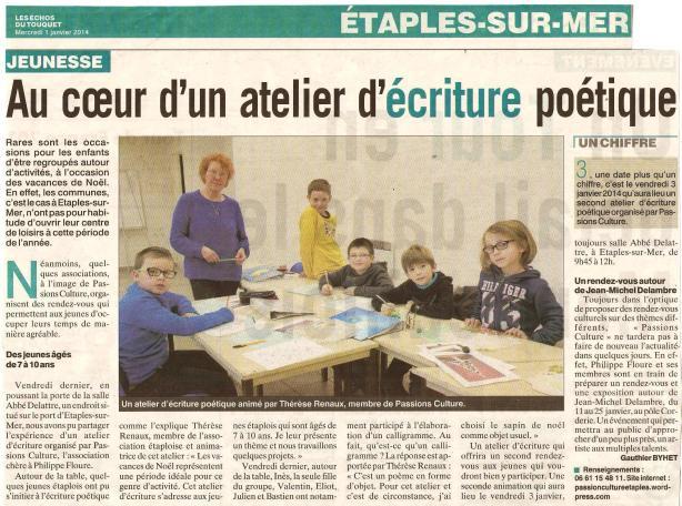 Atelier des petits poètes les Echos 12 2013 (salle Delattre)