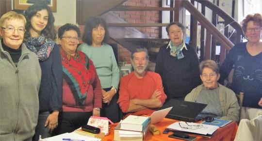 Octobre 2016. Les Membres de l'Atelier d'Ecriture (absente de la photo: Joëlle).