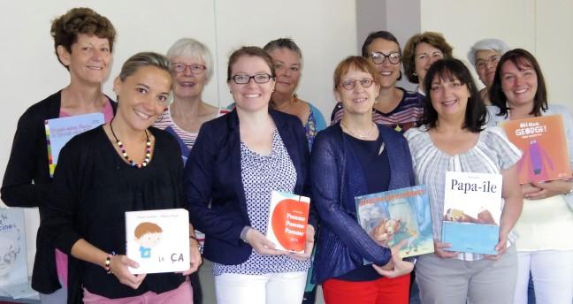 """Formation sur la lecture à voix haute avec l'association """"Lis avec Moi"""" (Absentes de la photo: Françoise B et Annie)"""